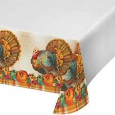 """Traditions of Thanksgiving Plastic Tablecloth Thanksgiving Decorations 54""""x102"""""""