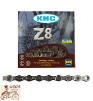"""KMC Z8  HG 6-7-8-SPEED 1/2"""" X 3/32""""---116 LINKS SILVER  MTB-ROAD BICYCLE CHAIN"""