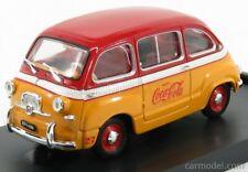 MODELLINO AUTO FIAT 600D MULTIPLA COCA-COLA OLIMPIADI ROMA 1960 RED SCALA
