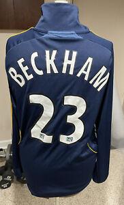 LA Galaxy David Beckham #23 Adidas Soccer Futbol Long Sleeve Jersey Adult Small