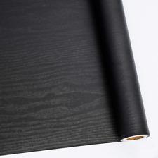 Black Wood Grain Contact Paper Peel Stick Self Adhesive Wallpaper Vinyl Wrap New