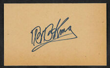 BB King Autograph Reprint On Original Period 1950s 3x5 Card