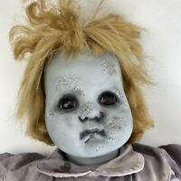 OOAK Vintage Doll Creepy Zombie Girl Haunted Horror Halloween Decor Spooky Prop