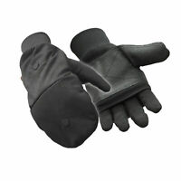 RefrigiWear Thinsulate Insulated Jersey Lined Pocketed Convertible Mitten Gloves