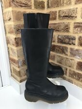 Women's Dr Marten Leather Boots Uk Size 4 EU37 Made In England