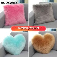 2020 New Plush Pillow Long Plush Sofa Pillow Cushion Square Heart Shaped Home
