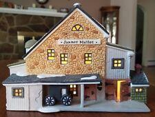 Dept 56 New England Village Jannes Mullet Amish Barn 5944-7 1989 with Light