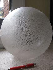 Lampenschirm Nr.1 Glas Kugel groß 30 cm weiß silber Öffnung 7,7 cm Laterne