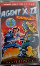 Agent X II C 64 (Mastertronic 1986) Cassette (Tape) (Game, Manual, Box) 100% ok