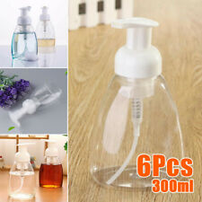 6pcs/Set 300ml Bathroom Clear Foam Liquid Soap Pump Dispenser Cleanser Bottles