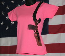 OPEN CARRY T-SHIRT ~ ~ PINK ~ ~ ~ Size: Extra Small ~ Ladies   Cotton Blend