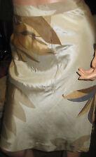 Banana Republic~silk~Beige~Nude~ Flower~ skirt~SZ 12R~NWT