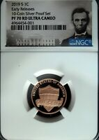 2019 S NGC PF 70 Red UCAM Lincoln Shield ☆☆ Early Releases ☆☆ Portrait Label