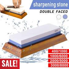 Dual Whetstone Waterstone Knife Sharpening Water Wet Stone Sharpener 1000/6000