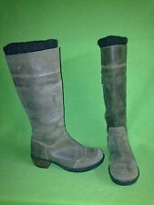 Brown Nubuck Fly London Boots with Wool Cuffs 6 36