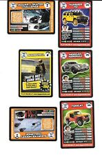 TOP GEAR TURBO CHALLENGER - 6 TRADING CARDS - 2010 - NOs.58,105,120,148,150,196