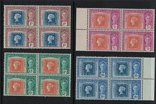 1947  MAURITIUS   100ys Colonial Postage Stamps George VI  Set  MNH  Blocks Of 4