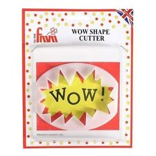 FMM Wow Shaped Speech Bubble Cutter Cupcake Cake Decoration Tool Super Hero