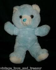 """16"""" BIG VINTAGE 1988 FAIRVIEW BABY BOY BLUE TEDDY BEAR STUFFED ANIMAL PLUSH TOY"""