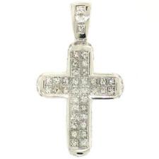 Collares y colgantes de joyería con diamantes naturales de oro blanco princesa