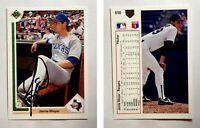 Jamie Moyer Signed 1991 Upper Deck #610 Card Texas Rangers Auto Autograph