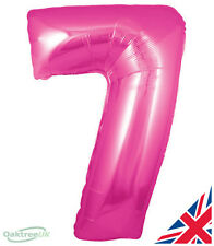 """Happy Birthday Shaped Large 30"""" foil Helium Number Balloon Party PINK 7"""