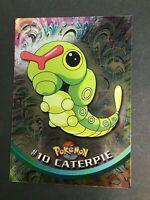 Pokemon - #10 CATERPIE - Topps - Series 1 - Chrome Holo - EXC