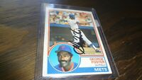 1983 TOPPS GEORGE FOSTER  AUTOGRAPHED BASEBALL CARD