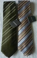 Lot de 2 cravates multicolore homme soie rayure vêtement mode neuf
