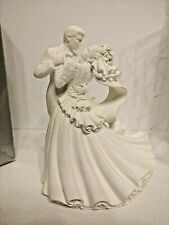 VINTAGE BRIDE & GROOM FIRST DANCE WILTON 1998 BIANCA WEDDING COUPLE CAKE TOPPER
