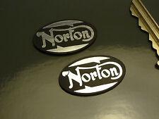 Norton oval style adhésif corps moto paire badges 30mm vélo commando