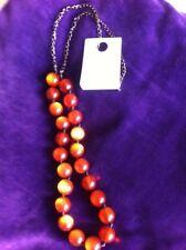 Copper Acrylic Chain Costume Necklaces & Pendants