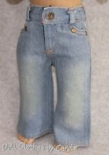 """Faded Front Light Denim Jeans - Pants fit 18"""" American Girl Doll - Clothes"""