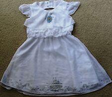 Disney Store Princess Cinderella Woven Wedding Flower Girl Dress Girls Sz 5-6