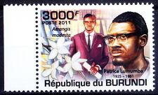 Burundi 2011 MNH, Patrice Lumumba, 1st President of Rep. Congo