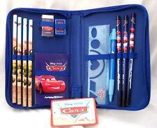 Disney Pixar Cars Lightning McQueen Carrying Case Stationary Set-Brand New!
