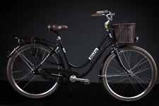 "28"" Zoll Alu Damen MIFA Fahrrad 7 Gang Shimano Nexus Nabendynamo Korb Retro"