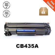 4PK CB435A 35A Black Toner Cartridge For HP Laserjet P1005 P1006 P1003 Printer