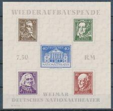 SBZ Theaterblock 1946 Plattenfehler Michel 3 A X PF IV geprüft (S15679)