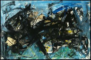 Kunst in der DDR/Informel 1989. Mischtechnik Frank VOIGT (*1946 D), handsigniert
