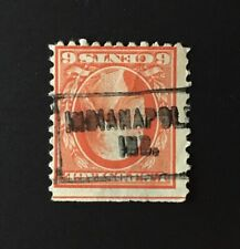 Indianapolis, Indiana Roller-type INVERT Cancel, 6 cents Washington (US #506) IN