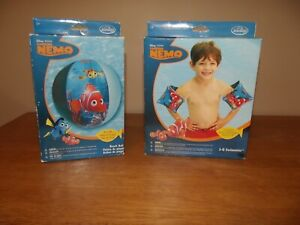"""Disney Pixar Finding Nemo 20"""" Beach Ball and Arm Floaters"""