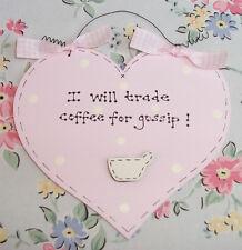 Shabby Chic HEART ~ Kitchen Coffee Gossip ~ Friend Gift