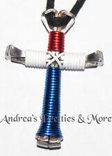 Disciples Cross Horseshoe Nail Patriotic Necklace