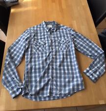 Esprit Hemd, karriert - weiß/blau/rot - Größe M - Slim