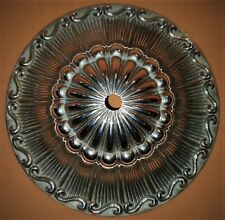 160mm Vintage Brass Ceiling Plate Rose 10mm Fixing Hole