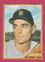 1962 Topps # 527 Dick McAuliffe -- Detroit Tigers -- Box 722-578