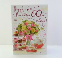 Regal Cards Female Age 60 Today Happy Birthday Card Afternoon Tea/C80201