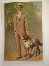 Georg Mühl Berg-un bel ragazzo - 1914-Student con cane/Studentika