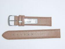 "Fluco Genuine Pigskin Leather Watch Band Strap 18 mm Cognac Brown ""Pig"""